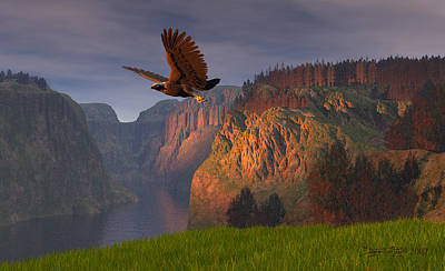 Bald Eagle Digital Art - As Once Beheld by Dieter Carlton