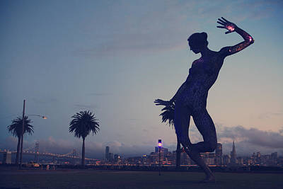 Bay Bridge Photograph - As She Dances The Night Away by Laurie Search