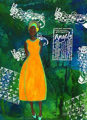 Mixed Media - As Sweet As An Angel by Angela L Walker