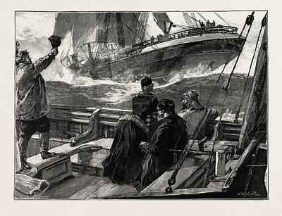 Storm Drawing - As The Clipper Stormed by Overend, William Heysham (1851-1898), British