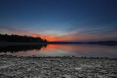 Percy Priest Lake Photograph - The Breaking Of Dawn by Ryan Sweeney