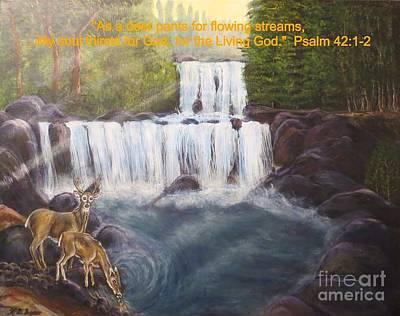 As The Deer Panteth For Flowing Streams Art Print by Kimberlee Baxter