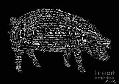 As The French Say... Cochon Art Print by Marion De Lauzun