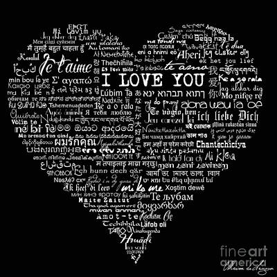 As The French Say... Heart Art Print