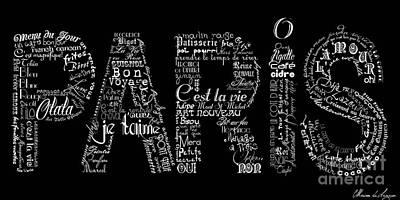 As The French Say... Paris Art Print by Marion De Lauzun