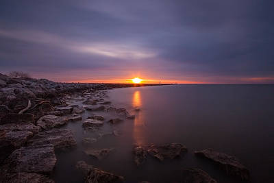 Breakwater Photograph - As The Light Shines Upon Us by Daniel Chen