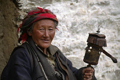 Photograph - As The Prayer Wheel Turns - Tibet by Craig Lovell
