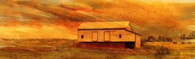 As The Sun Sets Art Print by Kathy Jennings