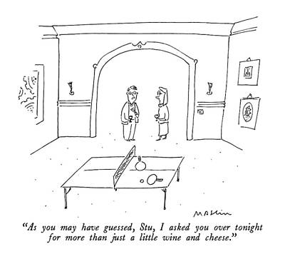 Dating Drawing - As You May Have Guessed by Michael Maslin