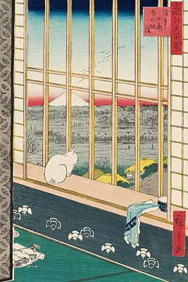 Rice Field Painting - Asakusa Rice Fields And Torinomachi Festival by Utagawa Hiroshige