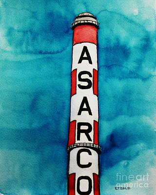 Painting - Asarco In Watercolor by Melinda Etzold