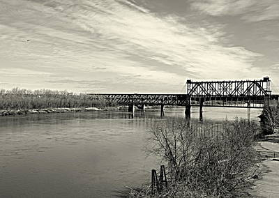 Asb Bridge Over The Missouri River Art Print by Karen Kersey