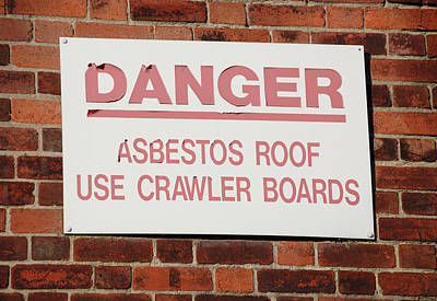 Asbestos Warning Sign Art Print by Public Health England