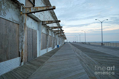 Photograph - Asbury Park Boardwalk At Dusk by Terri Oberg