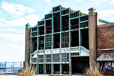 Asbury Park Casino - My City In Ruins Art Print by Bill Cannon