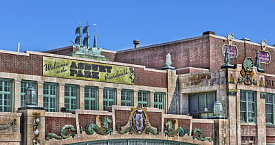 Asbury Park Convention Hall And Paramount Theatre  Art Print by Lee Dos Santos