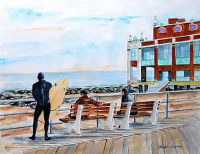 Asbury Park Surfers Art Print by Brian Degnon