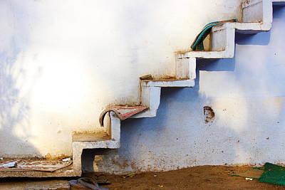 Minimalist Photograph - Ascending Staircase by Prakash Ghai