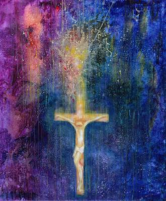 Jesus Photograph - Ascension, 2000 Acrylic On Canvas by Laila Shawa