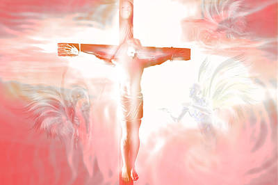 Jesus Christ Digital Art - Ascension.  by Carol and Mike Werner