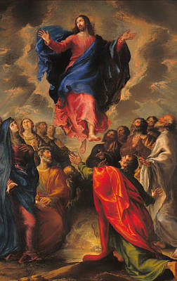 Christian Artwork Painting - Ascension by Mountain Dreams