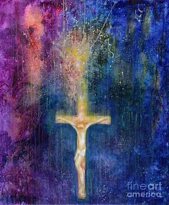Jesus Christ Icon Painting - Ascension by Laila Shawa