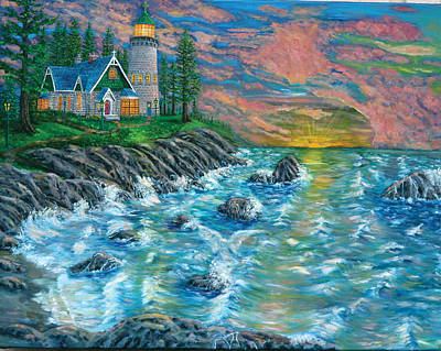 Painting - Ascension Light House by Mike De Lorenzo