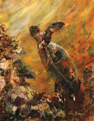 Honu Painting - Ascension by Lisa Bunge