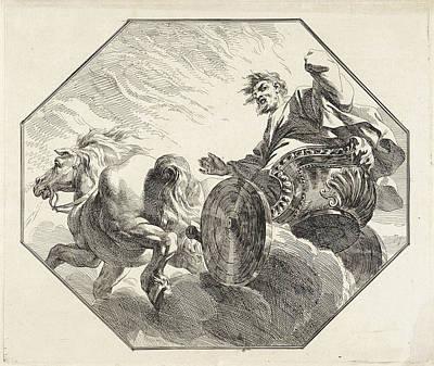 Bible Drawing - Ascension Of Elijah, Jacob De Wit by Jacob De Wit