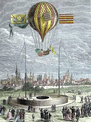 Ascent Of A Navigable Balloon Art Print