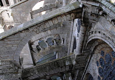 Photograph - Chartres Cathedral Ascent by Jacqueline M Lewis