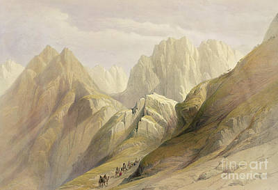 Mountain Painting - Ascent Of The Lower Range Of Sinai by David Roberts