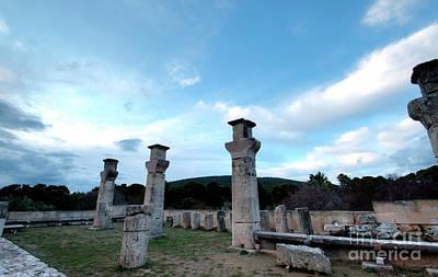 Photograph - Asclepieion Temple Columns 1 by Deborah Smolinske