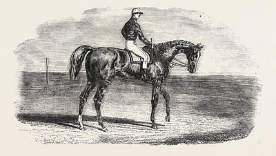 Horse Racing Drawing - Ascot Races Woolwich, The Winner Of The Emperors Vase by English School