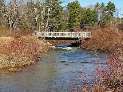 Photograph - Ash Brook And Bridge by MTBobbins Photography