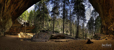 Photograph - Ash Cave Pano - Spring 2014 by Roman Wilshanetsky