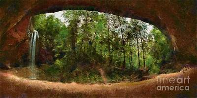 Photograph - Ash Cave by Scott B Bennett