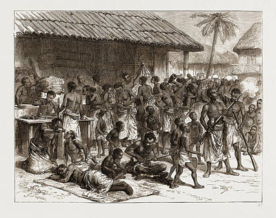 Ghana Drawing - Ashantees Buying Muskets With Gold Dust At Assinee by Litz Collection