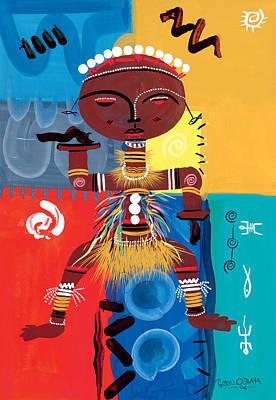 Enjoyment Painting - Ashanti by Oglafa Ebitari Perrin