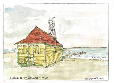 Painting - Ashbridges Bay Lifeguard Station by David Dossett