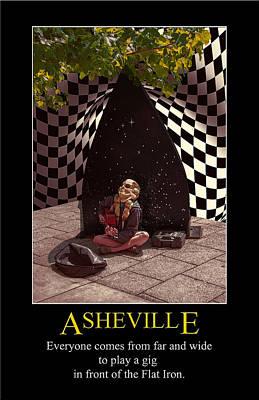 Digital Art - Asheville Alien Poster by John Haldane