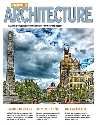 Digital Art - Asheville Architecture by John Haldane