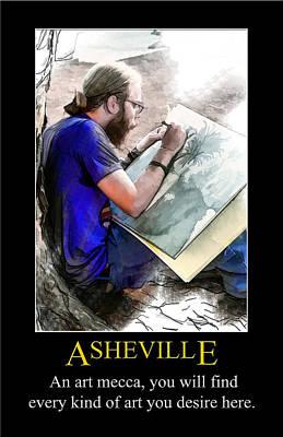 Digital Art - Asheville Artist Poster by John Haldane
