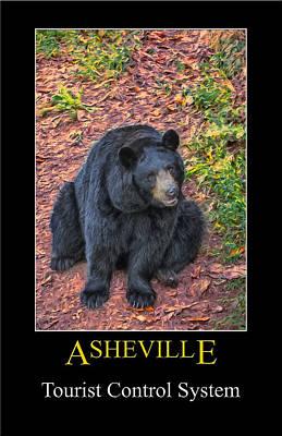 Digital Art - Asheville Bears Poster by John Haldane