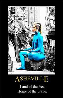 Digital Art - Asheville Brave Poster by John Haldane