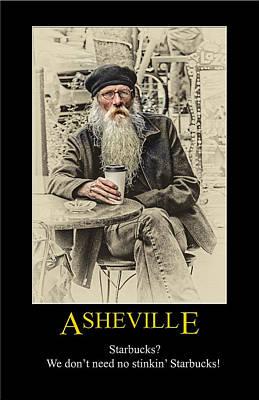 Digital Art - Asheville Coffee Poster by John Haldane