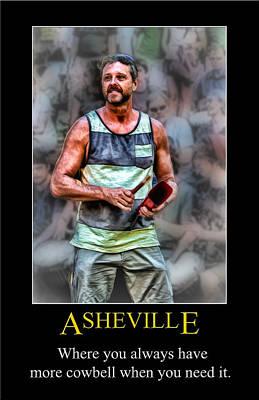 Digital Art - Asheville Cowbell Poster by John Haldane