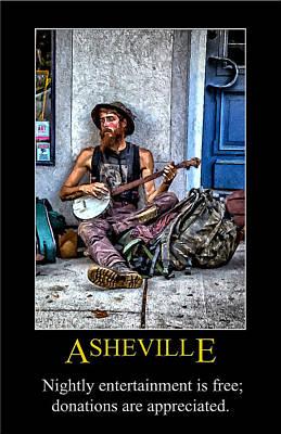 Digital Art - Asheville Entertainment Poster by John Haldane