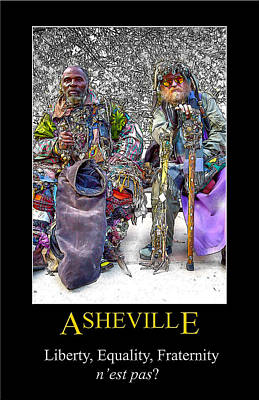 Digital Art - Asheville Equality Poster by John Haldane