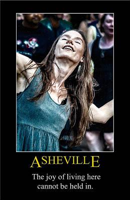 Digital Art - Asheville Joy Poster by John Haldane